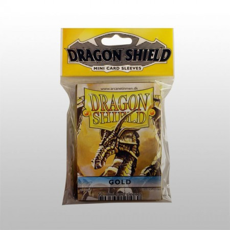 Малки протектори Dragon Shield (50) златни