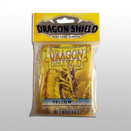 Малки протектори Dragon Shield (50) жълти